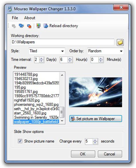automatically change desktop wallpaper  mourao
