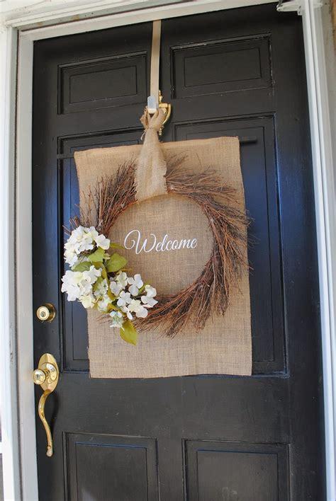 diy front door spring wreath