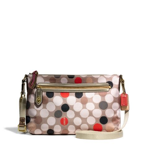 coach swing pack snap n zip fashion accessories coach poppy watercolor