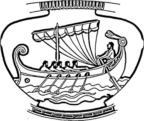 Ancient Greece Colouring Pages Coloriage Vase D 233 Cor 233 D Un Navire Coloriages 224 by Ancient Greece Colouring Pages