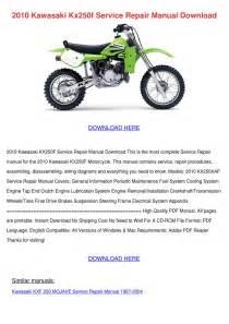 2010 Kawasaki Kx250f Service Repair Manual Do By