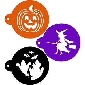 printable halloween stencils for cookies ghost witch and pumpkin halloween cookie stencils