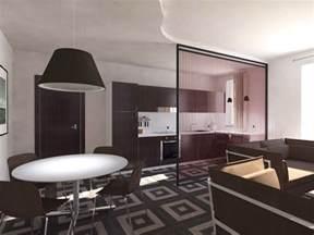 e cucina soggiorno e cucina openspace progetto in pianta e in 3d
