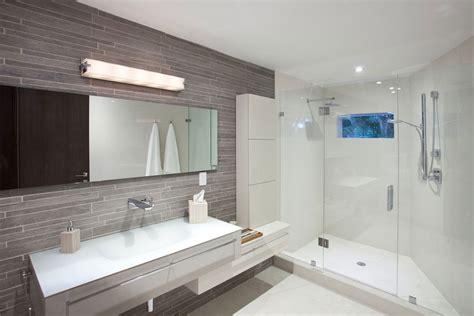 Shower glass screen bathroom sink mirror modern retreat in davie florida