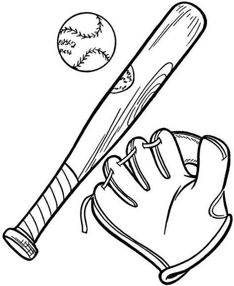 baseball bat drawing for kids www imgkid com the image