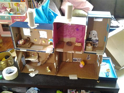 how to make a cardboard house for dolls 13 cardboard dollhouse plans guide patterns