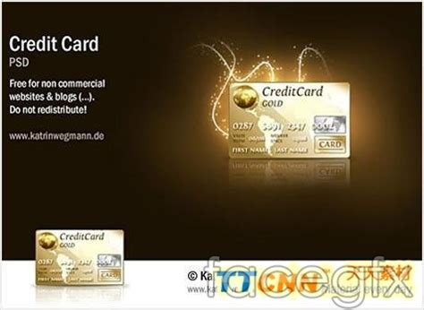 Template Credit Card Gold Graphic Design Gold Credit Card Psd Free