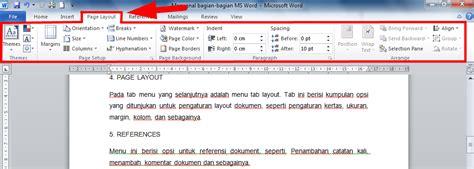 page layout adalah mengenal bagian bagian menu tab ms word seen day