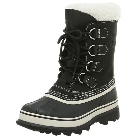 sorel sorel womens caribou boot in black lyst