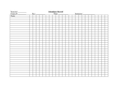 school attendance register template crafty pinterest