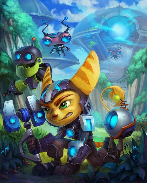 the art of ratchet rathet and clank fan art by lepyoshka on