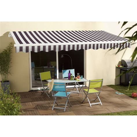 Karpet 2 X 3 store banne manuel sunlight sans coffre 3 x 2 m blanc gris leroy merlin