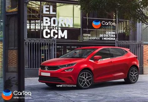 production spec tata altroz rendered  stylish manner