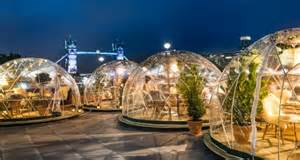 Christmas Party With A Difference - coppa club igloo dining tower bridge london winter dining designmynight