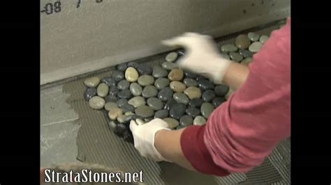 Mosaic Bathroom Tiles Ideas by Pebble Tile Shower Installation On Diy Network Youtube