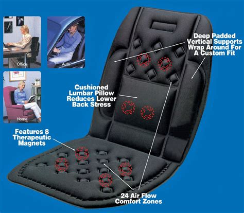car seat support medipaq magnetic lumbar seat cushion backache