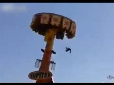 people falling off swings shocking amusement ride accident guy falls out