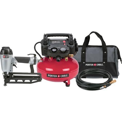 product porter cable reconditioned nail gun compressor kit 150 psi compressor 16