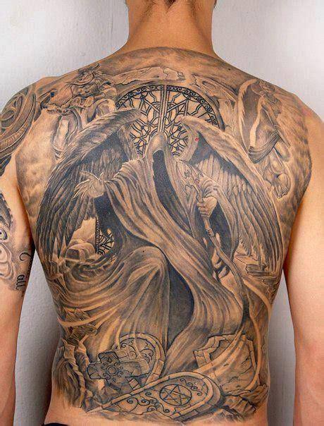 Tattoo Back Death | death angle tattoo on full back tattoos pinterest