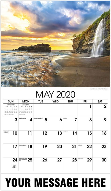 promotional advertising calendar sun sand  surf