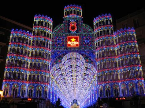 Amazing Light Displays At Las Fallas Festival From Light Displays