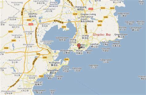 qingdao map qingdao map and qingdao satellite image