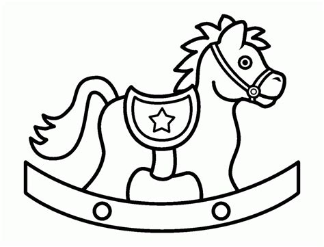 coloring pages of rocking horses rocking clip cliparts co