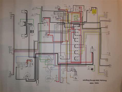 porsche 356a wiring diagram porsche get free image about