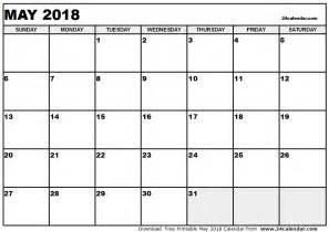 Mai 2018 Kalender May 2018 Calendar Calendar Printable Free