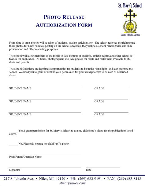 field trip release form template forms permission slips