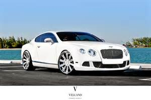 Bentley Continental White Bentley Continental Supercars White Tuning Vellano Wheels