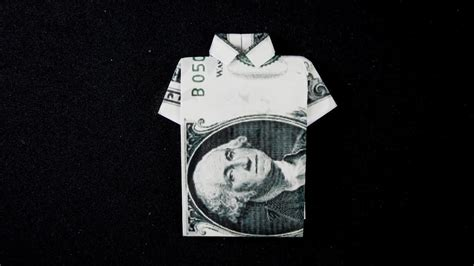 Dollar T Shirt Origami - easy tutorial dollar origami t shirt how to fold dollar