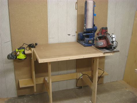 fold down work bench fold down workbench first add to my workshop by