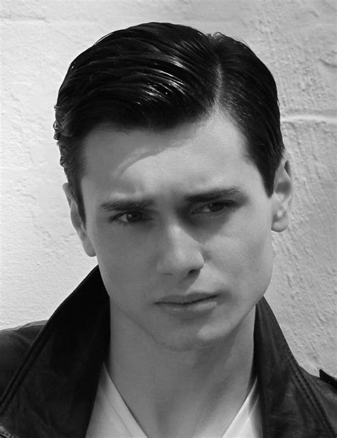 teddy boy hairstyles mens 1950s hairstyles short black sleek straight mens