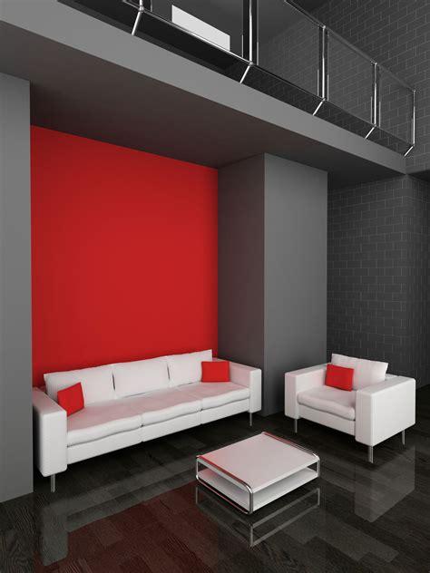 decorar salon blanco y rojo decorar sal 243 n en rojo negro y gris hogarmania