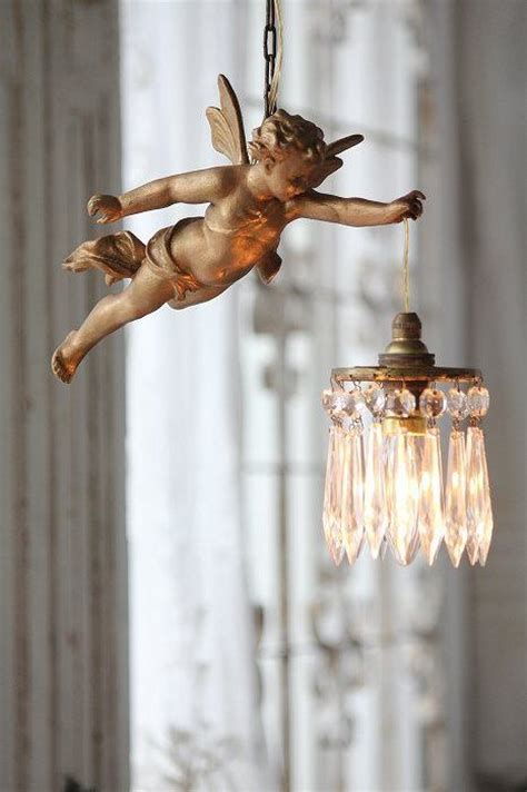 I Love This Lighting Cherub Holding A Chandelier Antique Cherub Chandelier