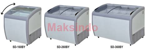 Sliding Curve Glass Freezerpremium Series Sd 360by mesin sliding curve glass freezer toko mesin maksindo