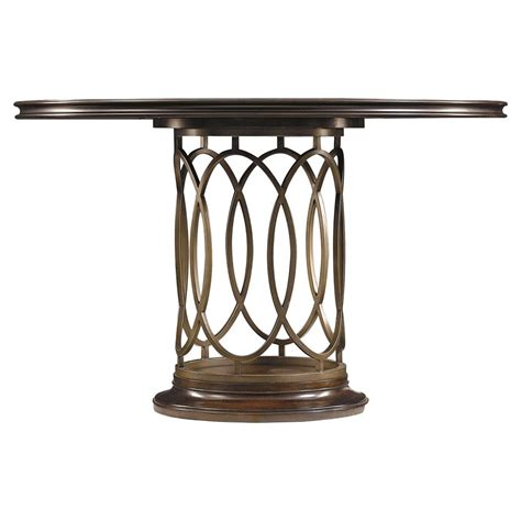 metal dining table sabrina modern classic metal pedestal dining table