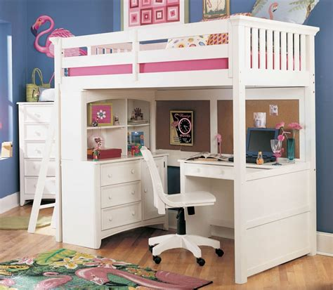 girls loft bed with desk girls fairytale twin loft bed with slide white girls
