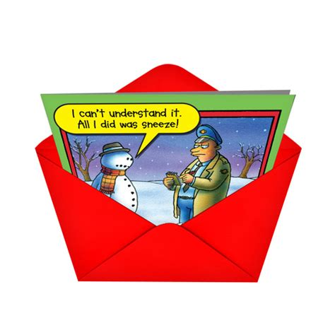 Where Can You Buy Stan Gift Cards - snowman sneeze cartoons christmas greeting card stan eales