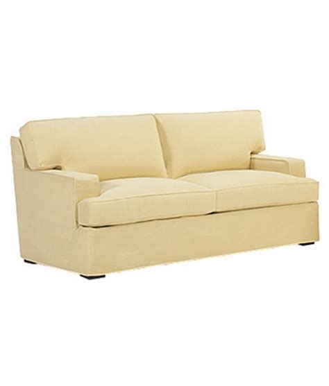 Slipcovered T Back Sleeper Sofa W Track Arms Slipcovered Sofa Sleeper