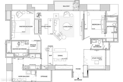 blueprint floor plan asian interior design trends in two modern homes with