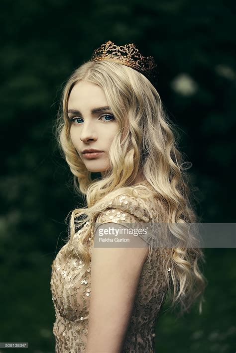 top crown filler short woman young woman wearing a golden crown stock photo getty images