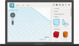 tinkercad is a simple online 3d design and 3d printing app for