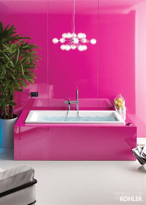 Pink In Bathtub by The Prettiest Pink Bathroom Design Ideas