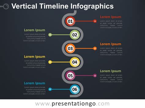 Vertical Timeline Infographics For Powerpoint Presentationgo Com Vertical Timeline Template Powerpoint