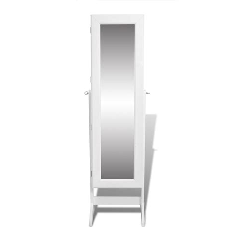 jewelry armoire mirror free standing white free standing mirror jewelry cabinet vidaxl com