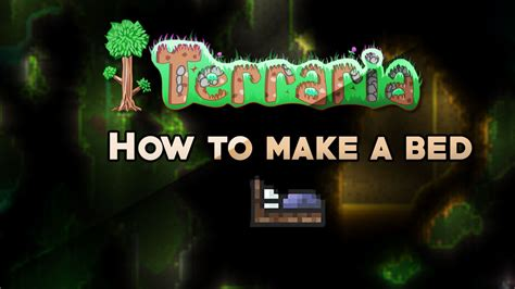 how to build a bed in terraria terraria how to make a bed youtube
