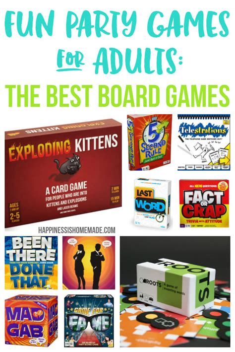 party themes games adults fun party games for adults board games happiness is