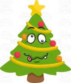 Shop Decoration For Christmas - a crazy christmas tree cartoon clipart vector toons
